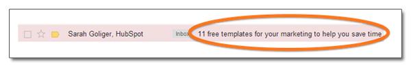 Optimiser l'objet d'un email