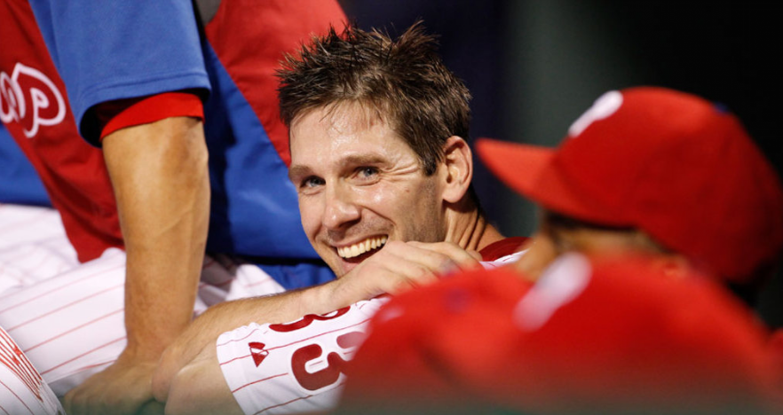 cliff lee phillies pitching. Cliff Lee is all smiles as he