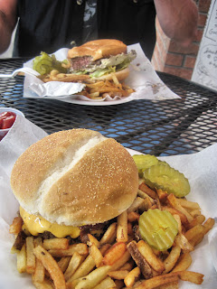Bacon cheese burgers - Maggie's Kitchen - Ouray CO