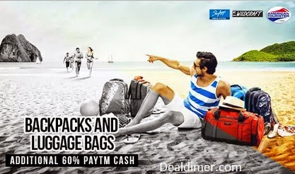 Bags & Luggage Extra 70% Cashback – PayTm