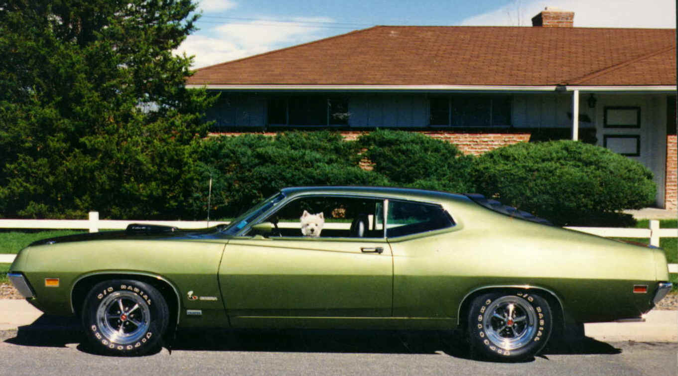 Ford Torino Cobra Green Left View