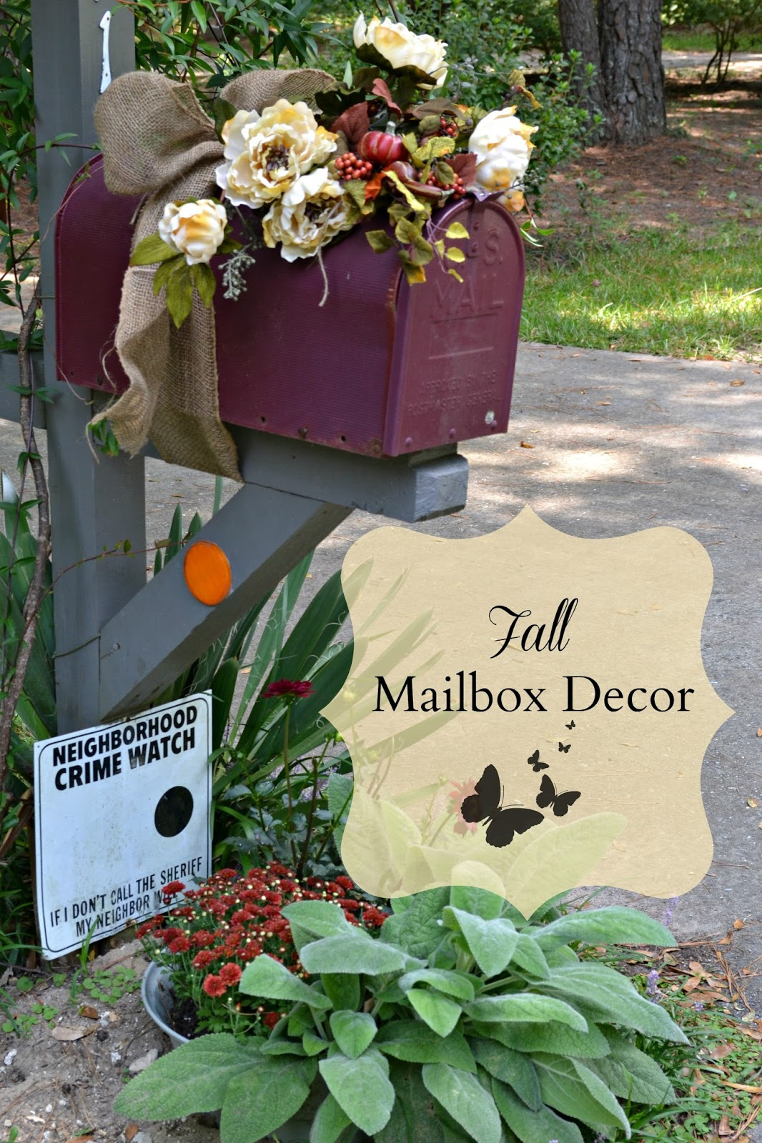 Sweet Inspirations by JP designs An Autumn Mailbox ~ 222911_Halloween Decorating Ideas For Mailboxes