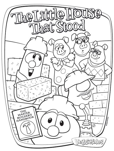 veggie tales coloring pages free - photo#34