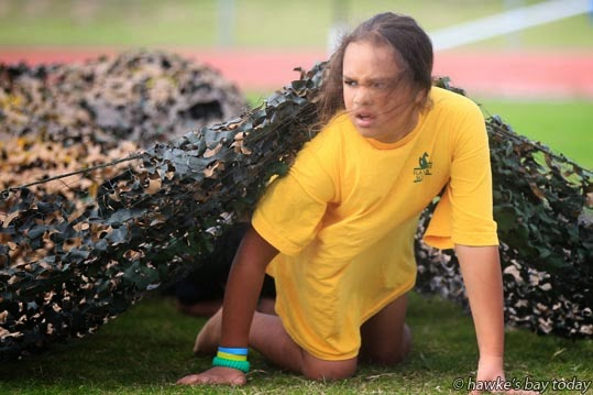 Kids compete in the Mitre 10 Mega Tough Kid event at Hawke's Bay Regional Sports Park, Hastings. photograph