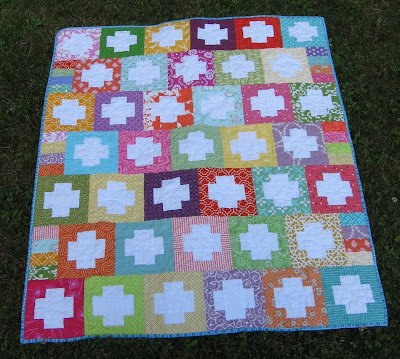 Reverse Plus Quilt ~ All Finished!