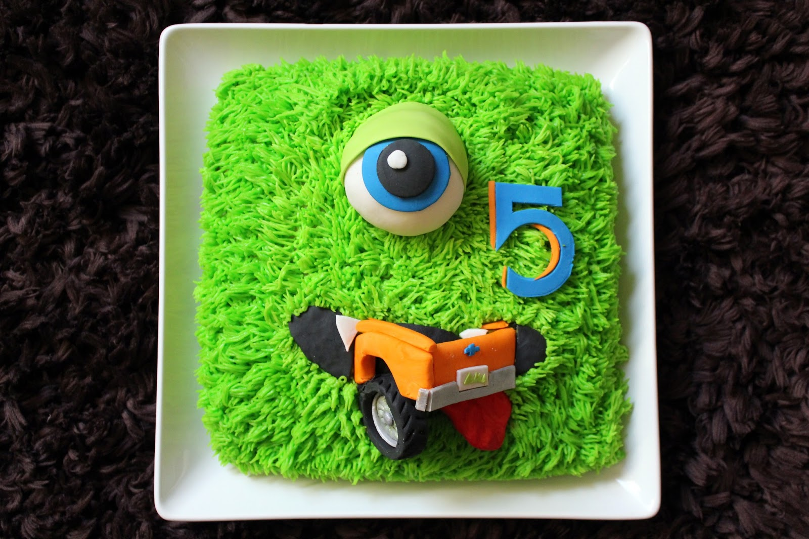 Monster Truck Cake Topper Set