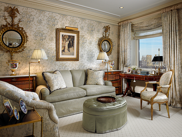 This Gorgeous Sitting Room High In The Sky Is Done In The Palest Silvery  Celadon...so Luscious! Scott Snyder