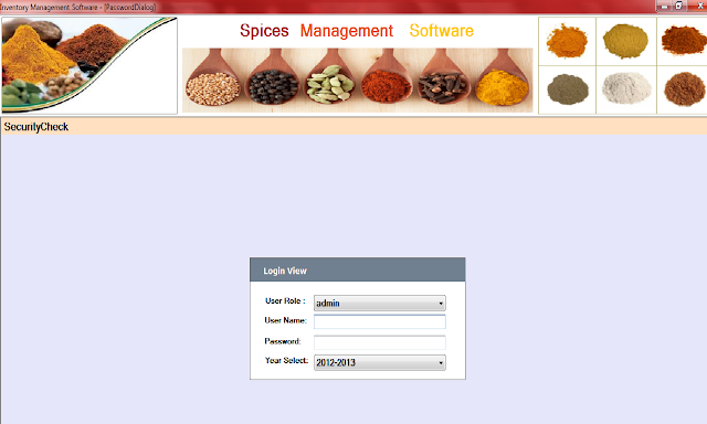 Spices Software Login Screen in Rajkot,Gujarat,India