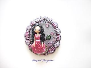 pendant, polymer clay, jewelry, unique, handmade