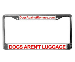 Official Dogs Against Romney License Plate Frames