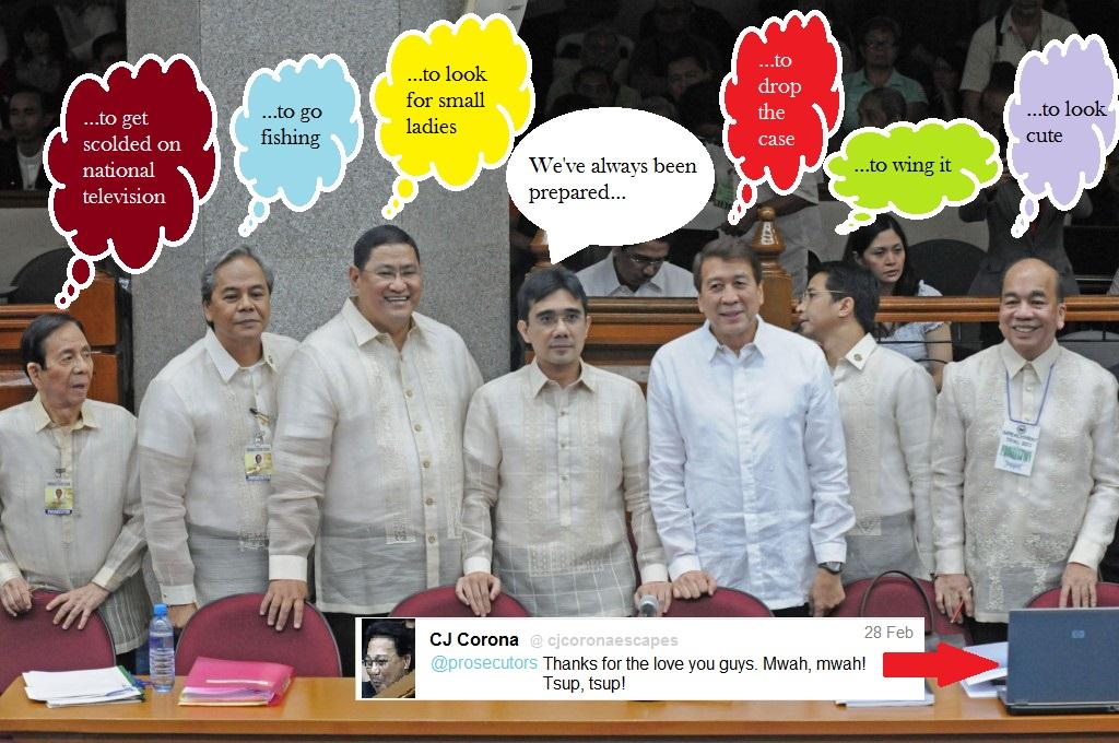 Corona impeachment trial prosecution panel