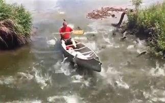 Ξεχωριστό ψάρεμα με κανό [video]