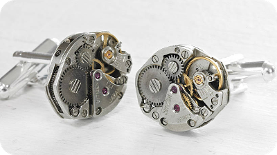 Continuum Vintage Watch Movement Cufflinks