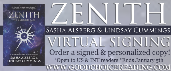 Zenith by Sasha Alsberg & Lindsay Cummings Virtual Signing!