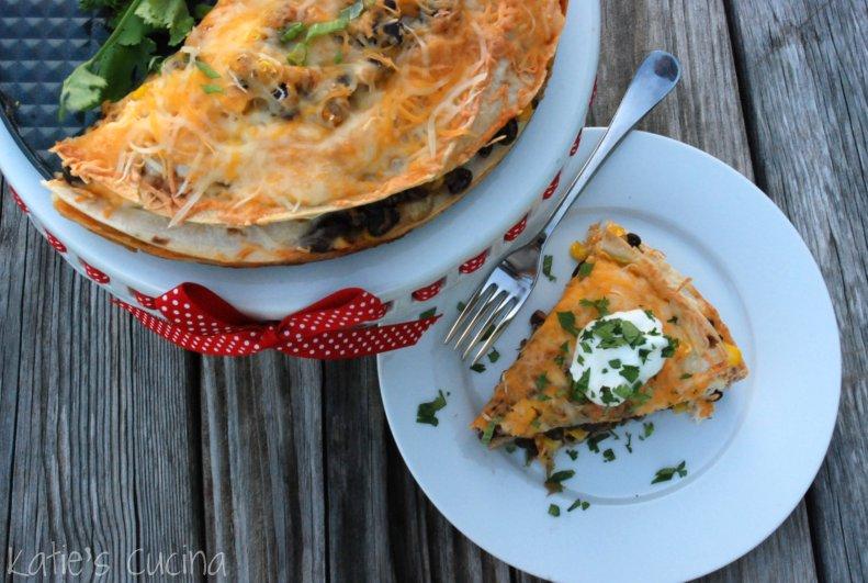 Tortilla And Black Bean Pie Recipe — Dishmaps