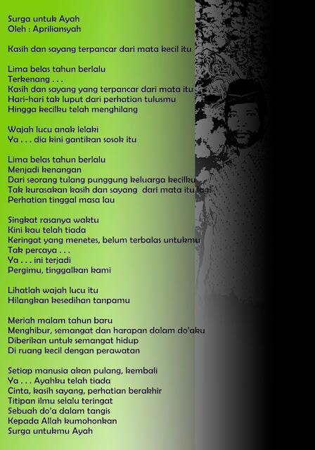 "Karya Apriliansyah Musi Rawas I : ""Surga untuk Ayah"""