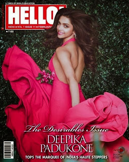 Deepika Padukone cute Lovely shoot in Pink for Hello Magazine Feb 2014 Issue