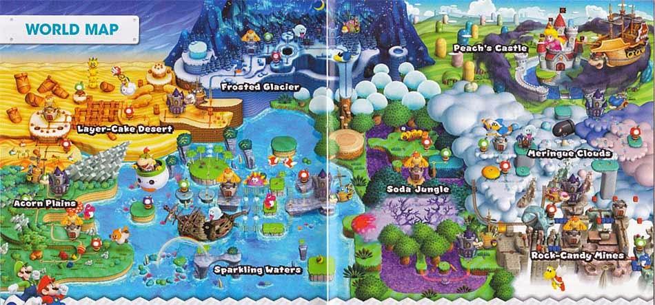Super Mario Bros World Mapa Comprar New Super Mario Bros
