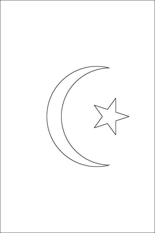 colorear bandera de Mauritania para imprimir