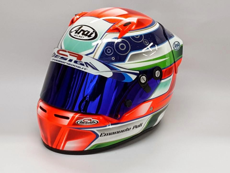 Racing Helmets Garage: Arai SK-5 E.Poli 2014 by CF Design