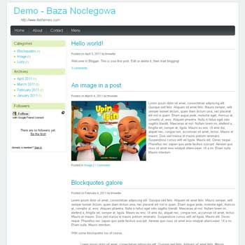 Baza Noclegowa blogger template convert from wordpress theme to blogger. minimalist blogger template