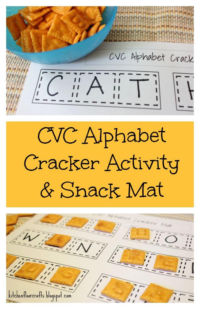 Kitchen Floor Crafts Cvc Alphabet Cracker Activity Snack Mat