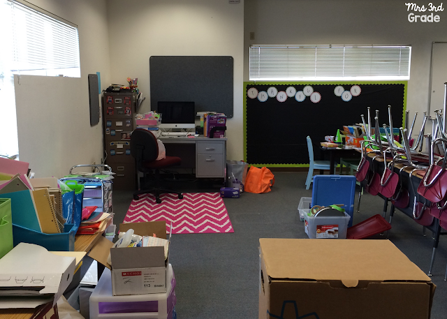 A clean teacher desk area is a must for my new and improved room!