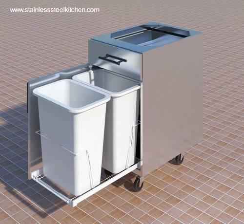 Arquitectura de casas cocina completa en acero inoxidable for Mueble utilitario