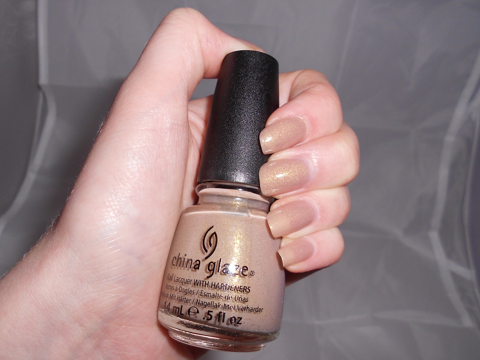 China Glaze Fast Track nail varnish bottle and fingers