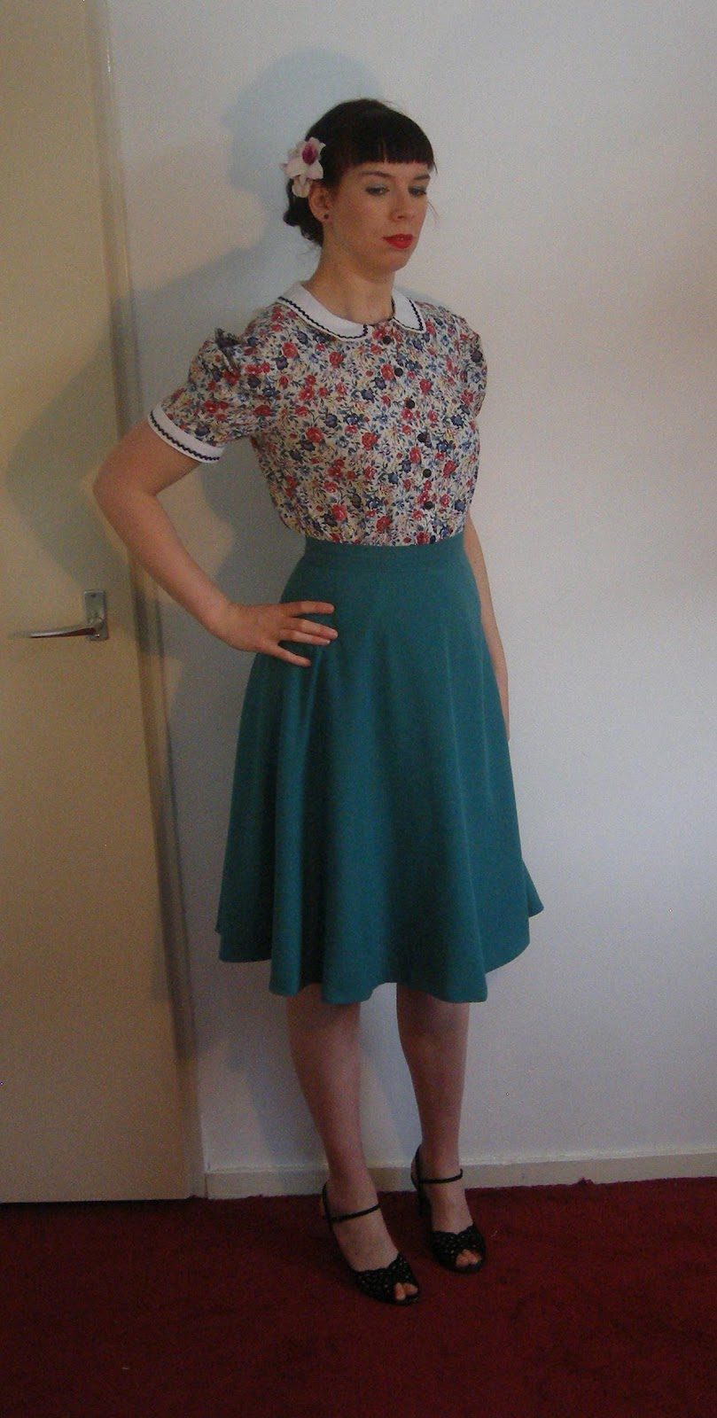 40s inspired blouse and skirt made by Anthea