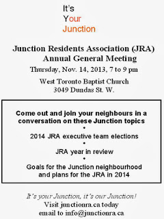 Toronto Junction Residents Association AGM, November 14, 2013
