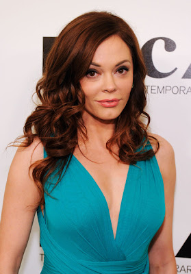 Rose McGowan Long Curls Hairstyle