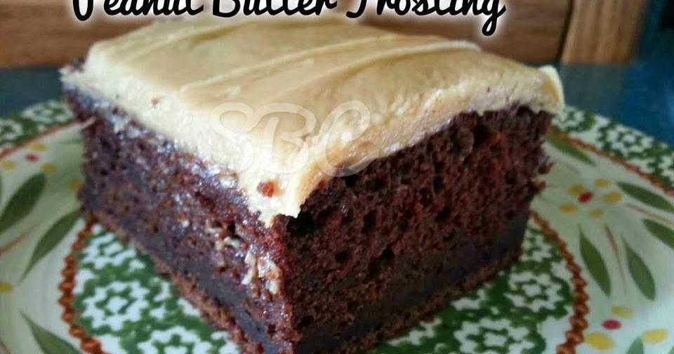 Mayonnaise Cake With Peanut Butter Frosting