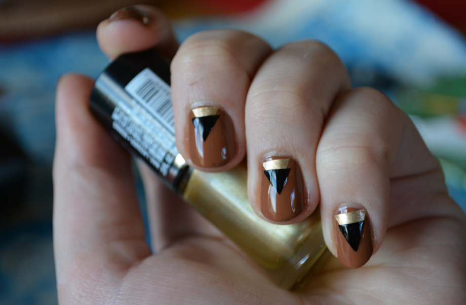 The Closet Historian Easy Art Deco Nails With Scotch Tape