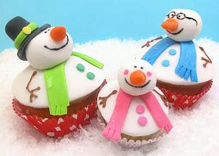 Cupcakes o Magdalenas de Navidad, parte 2