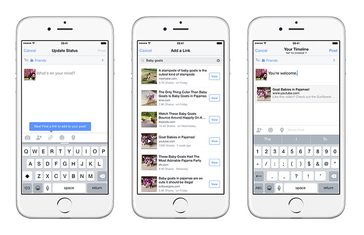 Facebook Para iOS Permite Buscar Y Compartir Enlaces