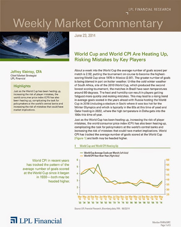 The LPL Financial Weekly Market Commentary from Legacy Wealth Planning – June 23, 2014