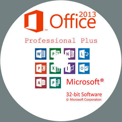 MICROSOFT OFFICE PROFESSIONAL PLUS 2013 32 BIT LABEL