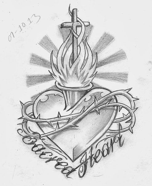 Day 280 Sacred Heart Tattoo Design Now This Is Definitely Made For