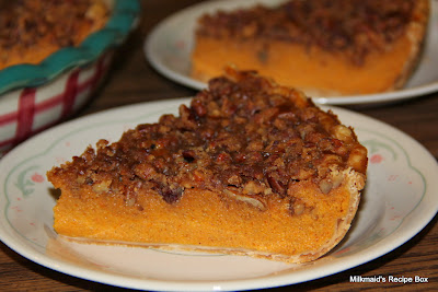 Pecan-Topped Carrot Pie (Yes, Carrot!)