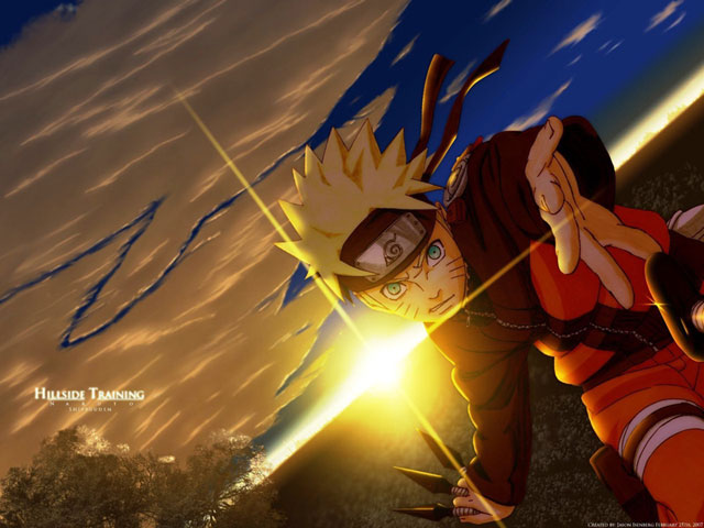 naruto shippuden hillside training