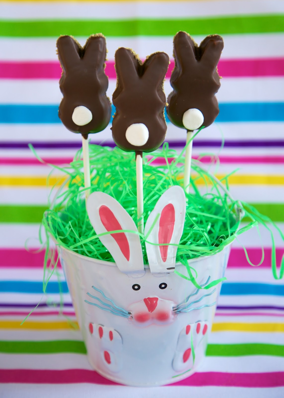 They Are Made With Bunny Peeps These Are Very Easy To Make; Simply Dip The  Peeps Into Some Melted Almond Bark, Graham Cracker Crumbs And Pop A  Marshmallow