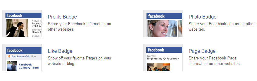 facebook , blogger , badge