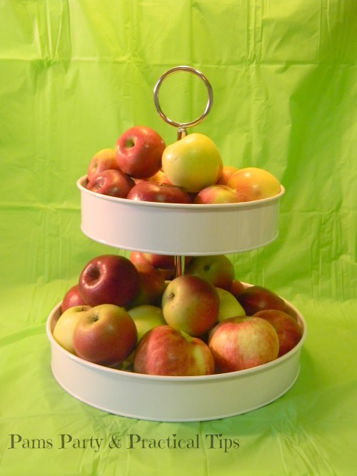 A fun way to display fresh apples