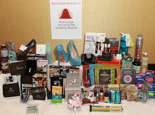 Swag+Bag++value+$9,800.00+from+Red+carpet+Events+LA+in+honor+to+the++Grammy+Awards+2013 Annual Grammy Awards Style Lounge Hosted by Red Carpet Events LA