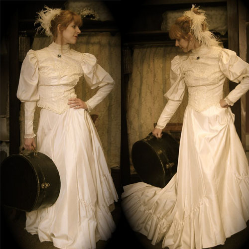 Vintage Victorian Steampunk Bridal Dress