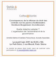 Coffee@Stehlin : Le pacte d'associés
