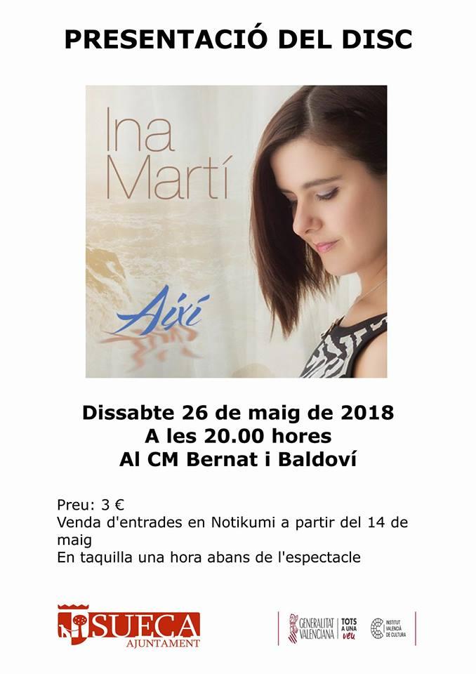 Ina Martí presenta el seu disc
