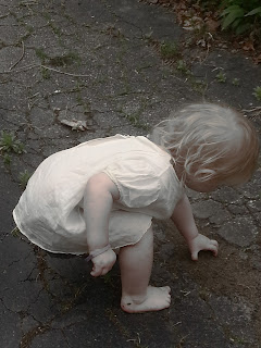child in the driveway