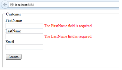 Required Field Validation using Annotations in ASP.Net MVC framework